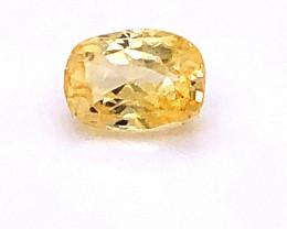 GIA Certified Yellow Sapphire 1.76 Carats Unheated Cushion Cut