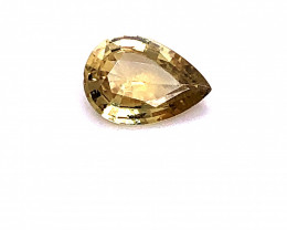 GIA Certified Unheated 1.41 Carat Yellow Sapphire Pear Cut