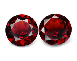 2.89 Cts 2 Pcs Unheated Natural Cherry Pinkish Red Rhodolite Garnet Gemston