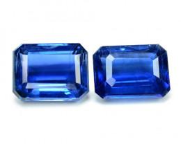 3.81 Cts 2 Pcs Fancy Royal Blue Color Natural Kyanite Gemstone