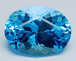 13.80 Ct Natural Topaz Amazing Cutting Top Luster Gemstone. TPF 06