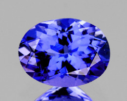 7x5 mm Oval 0.88ct Purple Blue Tanzanite [VVS]