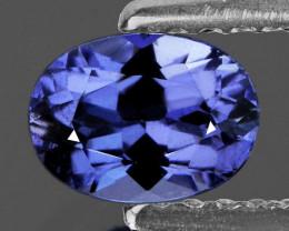 7x5 mm Oval 1.08cts Light Purple Blue Tanzanite [VVS]