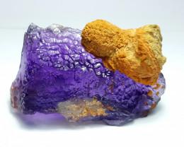 Amazing Natural Lovely color Damage free gemmy Fluorite specimen 180Cts-P