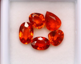 5.48ct Natural Orange Garnet Mix Cut Lot  A942