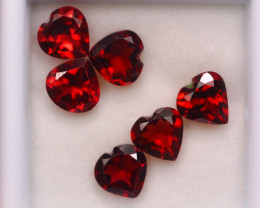 5.18ct Natural Rhodolite Garnet Heart Cut Lot A945