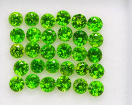 2.24Ct Natural Chrome Diopside Round Cut Lot  A951