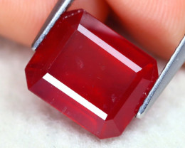 Red Ruby 7.34Ct Octogon Cut Pigeon Blood Red Ruby B2201