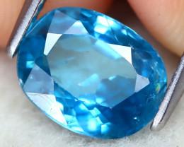 Zircon 3.00Ct Oval Cut Natural Ratthanakiri Blue Zircon C2202
