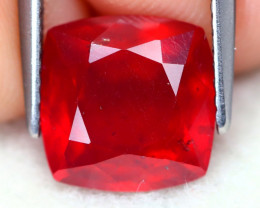 Red Ruby 4.17Ct Square Cut Pigeon Blood Red Ruby A2206