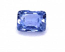 GIA Certified Unheated 1.06 Carat Blue Sapphire Cushion Cut