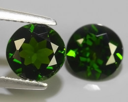 2.70 Cts MARVELOUS RARE ROUND NATURAL TOP GREEN- CHROME DIOPSIDE!!