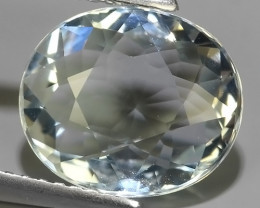 3.35 CTS Nice Quality Natural Aquamarine  Untreated Oval Shape~Excellent!!