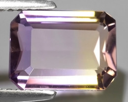2.90 CTS AWESOME NATURAL OCTAGON YELLOW~VIOLET AMEITRINE GEM!!