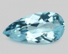 6.63  Cts Un Heated  Santa Maria Blue  Natural Aquamarine Loose Gemstone