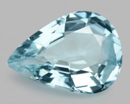 5.55 Cts Un Heated  Santa Maria Blue  Natural Aquamarine Loose Gemstone