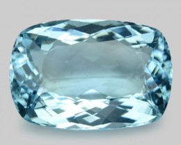 13.85 Cts Un Heated  Santa Maria Blue  Natural Aquamarine Loose Gemstone