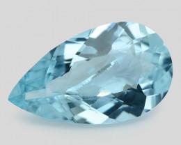 4.53 Cts Un Heated  Santa Maria Blue  Natural Aquamarine Loose Gemstone