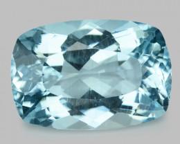 9.21 Cts Un Heated  Santa Maria Blue  Natural Aquamarine Loose Gemstone