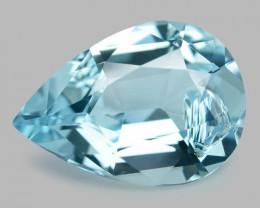 3.22 Cts Un Heated  Santa Maria Blue  Natural Aquamarine Loose Gemstone