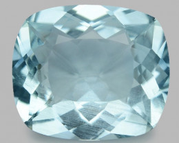 6.71 Cts Un Heated  Santa Maria Blue  Natural Aquamarine Loose Gemstone