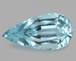 4.84 Cts Un Heated  Santa Maria Blue  Natural Aquamarine Loose Gemstone