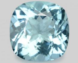 2.17 Cts Un Heated  Santa Maria Blue  Natural Aquamarine Loose Gemstone