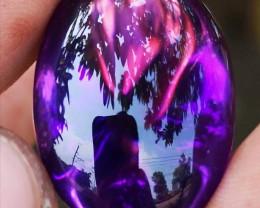 Certf. High Quality Dark purple amethys  top shape cut.
