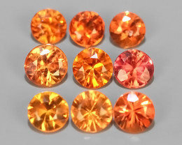 1.55 Cts~Excellent Natural Intense Beautiful Orange Yellow Sapphire Round!!