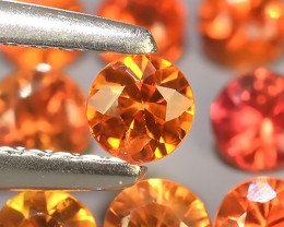 1.40 Cts~Excellent Natural Intense Beautiful Orange Yellow Sapphire Round!!