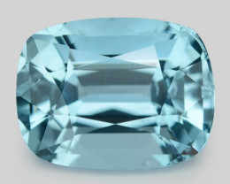 2.83 Cts Un Heated  Santa Maria Blue  Natural Aquamarine Loose Gemstone