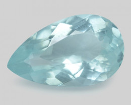2.95 Cts Un Heated  Santa Maria Blue  Natural Aquamarine Loose Gemstone