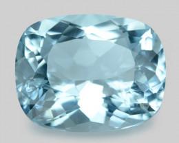 3.53 Cts Un Heated  Santa Maria Blue  Natural Aquamarine Loose Gemstone