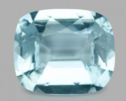3.02  Cts Un Heated  Santa Maria Blue  Natural Aquamarine Loose Gemstone