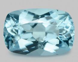 2.54 Cts Un Heated  Santa Maria Blue  Natural Aquamarine Loose Gemstone