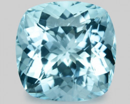 3.17 Cts Un Heated  Santa Maria Blue  Natural Aquamarine Loose Gemstone
