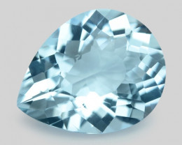 1.94 Cts Un Heated  Santa Maria Blue  Natural Aquamarine Loose Gemstone