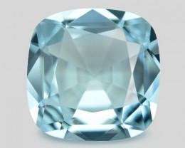 1.50 Cts Un Heated  Santa Maria Blue  Natural Aquamarine Loose Gemstone