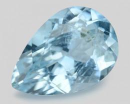 2.25 Cts Un Heated  Santa Maria Blue  Natural Aquamarine Loose Gemstone
