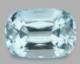 2.93 Cts Un Heated  Santa Maria Blue  Natural Aquamarine Loose Gemstone