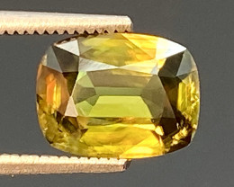Green Chrome Sphene Dramatic Fire AAA Quality From Pakistan.GSN 01