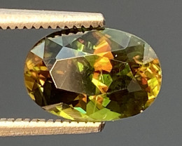 Green Chrome Sphene Dramatic Fire  AAA Quality From Pakistan.GSN 03