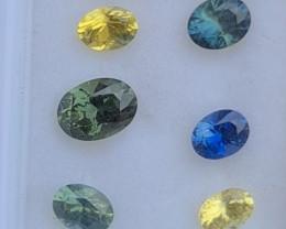 2.65ct natural multi colour sapphire parcel