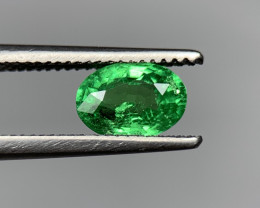 0.82Carats vivid Green Natural Tsavorite Gemstone