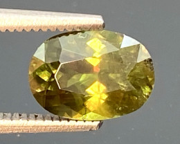 Green Chrome Sphene Dramatic Fire  AAA Quality From Pakistan.GSN 08