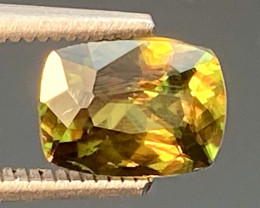 Green Chrome Sphene Dramatic Fire AAA Quality From Pakistan.GSN 09