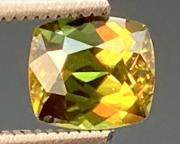 Green Chrome Sphene Dramatic Fire  AAA Quality From Pakistan.GSN 10