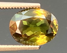 Green Chrome Sphene Dramatic Fire AAA Quality From Pakistan.GSN 12