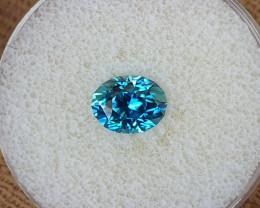 3,68ct Blue Zircon - Master cut & AAA colour!