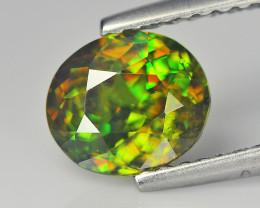 Magnificent Chrome Green pakistan Sphene 1.28 Cts Portuguese Cut BGC623
